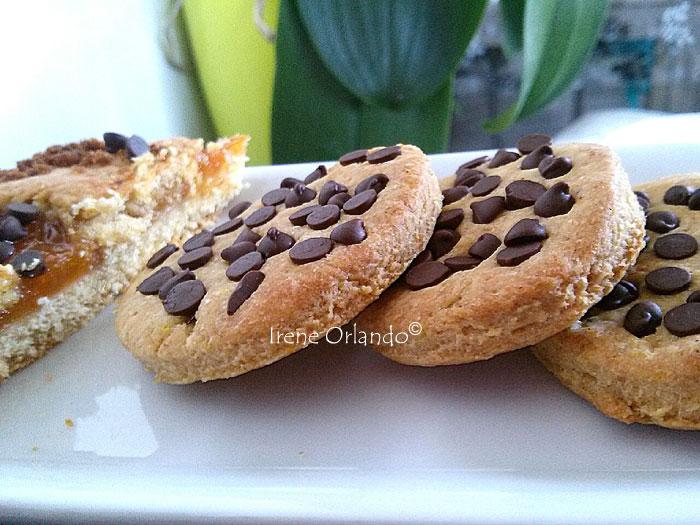 Biscotti di Frolla Vegan con gocce di Cacao