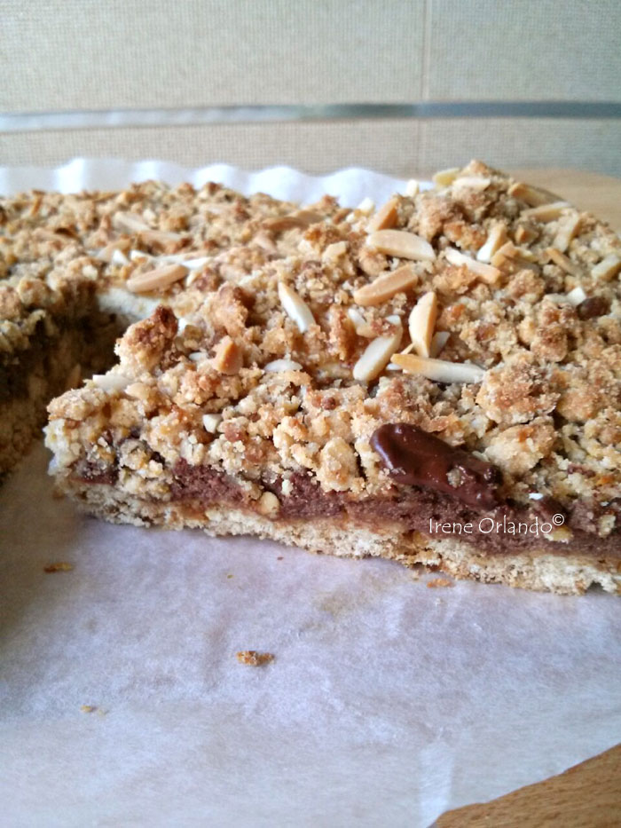 Torta Sbriciolona con Tofu bicolore (Cacao e Mandorle)
