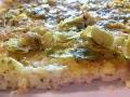 Pizza bianca di Miglio con porro