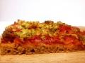 Pizza senza Impasto Rossa con Cipollotto