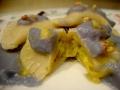 Ravioli Mezzaluna con Cavolfiore bianco e Crema di Cavolo Rosso