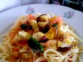 Spaghetti Estivi con Pomodoro fresco, Melanzane e Basilico