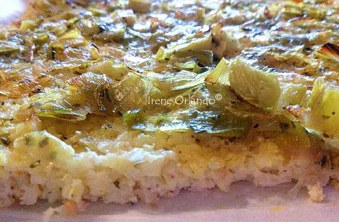 Immagine ritraente la Pizza bianca Miglio e Porro in piatto