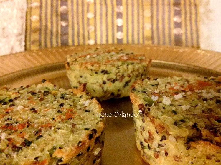 Tortini di Quinoa mix con Verdure