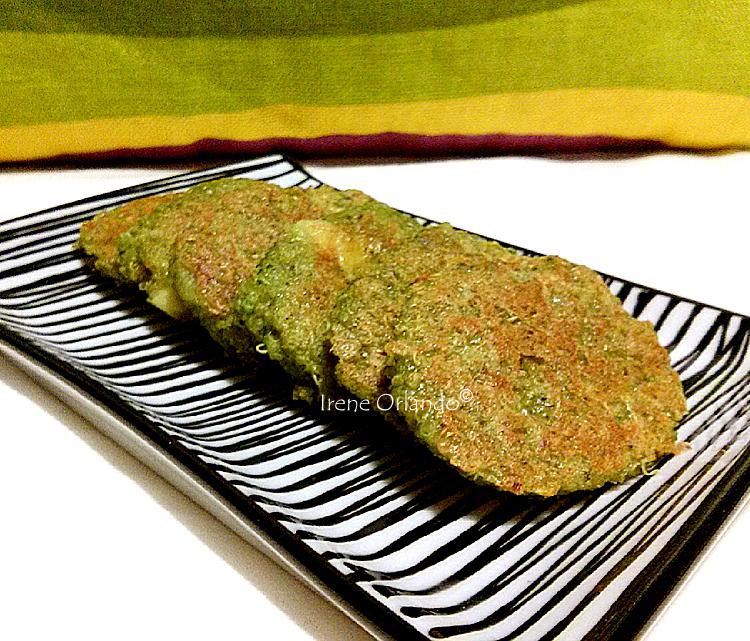 piattino con burger di quinoa bio