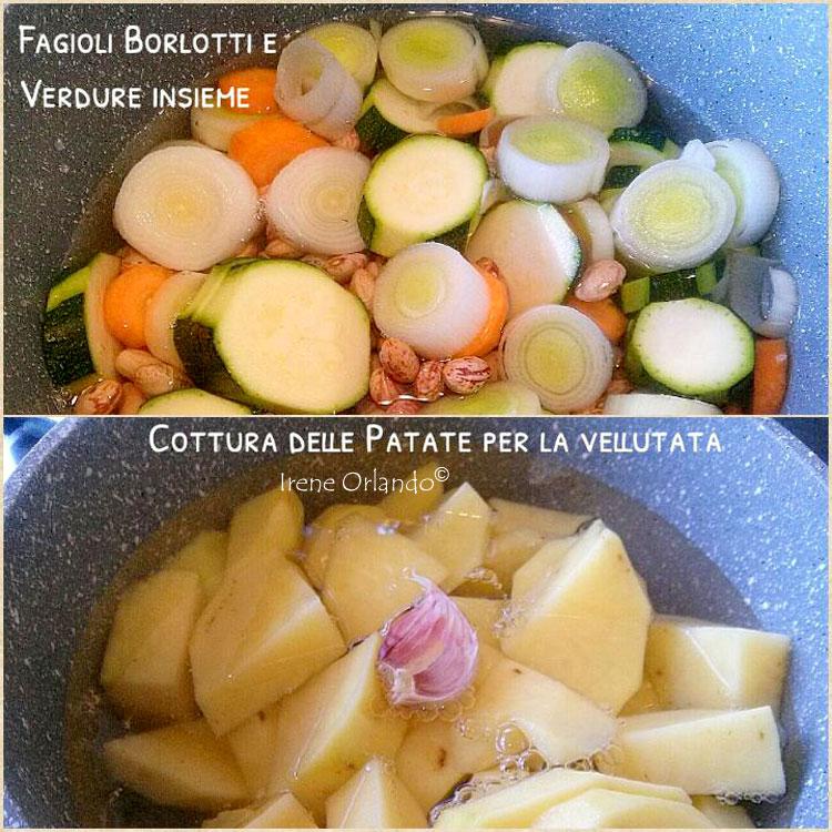 Ricetta della Zuppa di Fagioli con Vellutata di Patate Desirèe
