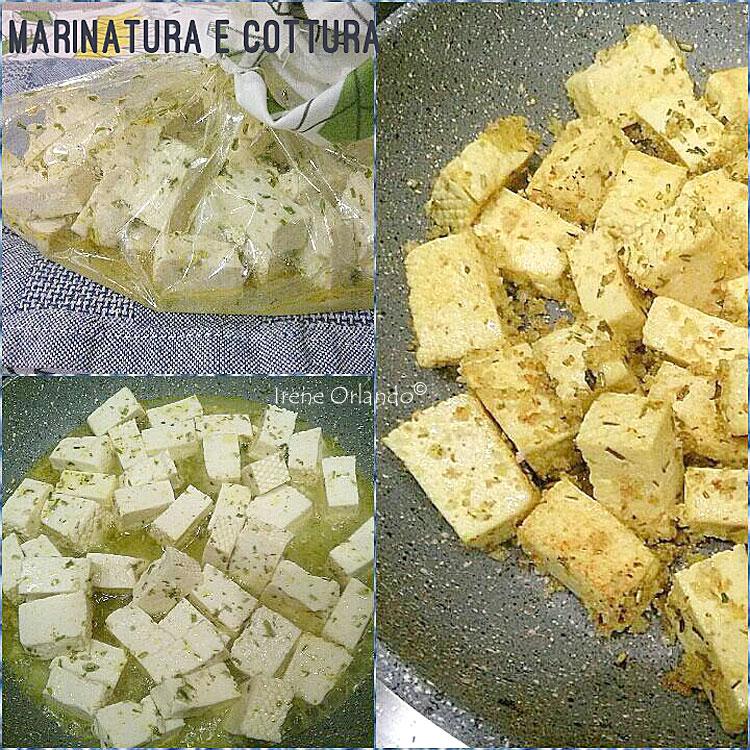 Ricetta dei Tocchetti di Tofu al naturale Biologico - Marinatura, Padella