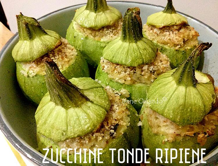 Ricetta delle Zucchine Tonde ripiene di Riso Integrale Baldo e Barba del Frate - Tutti vegetale - Ricetta Vegan