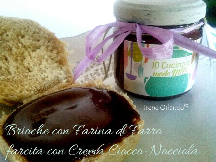 Ricetta delle Brioches Vegan all'Olio d'Oliva farcite con Crema Ciocco Nocciola