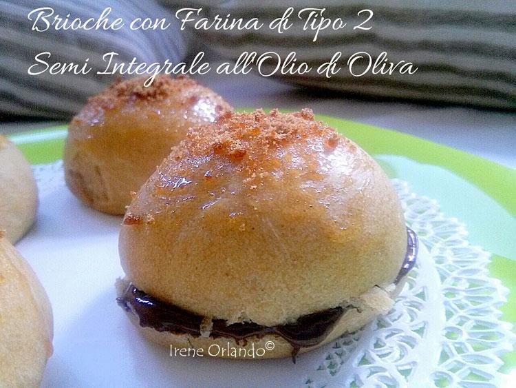 Ricetta delle Brioches Vegan all'Olio d'Oliva - Con Farina di Tipo 2 farcite con Crema Ciocco Nocciola