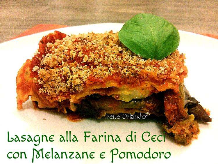 Ricetta delle Lasagne di Farina di Ceci con Melanzane e Pomodoro