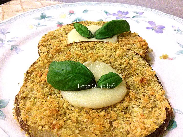 Ricetta delle Melanzane al forno con Panatura Deluxe con farina di mandorle e semi di sesamo
