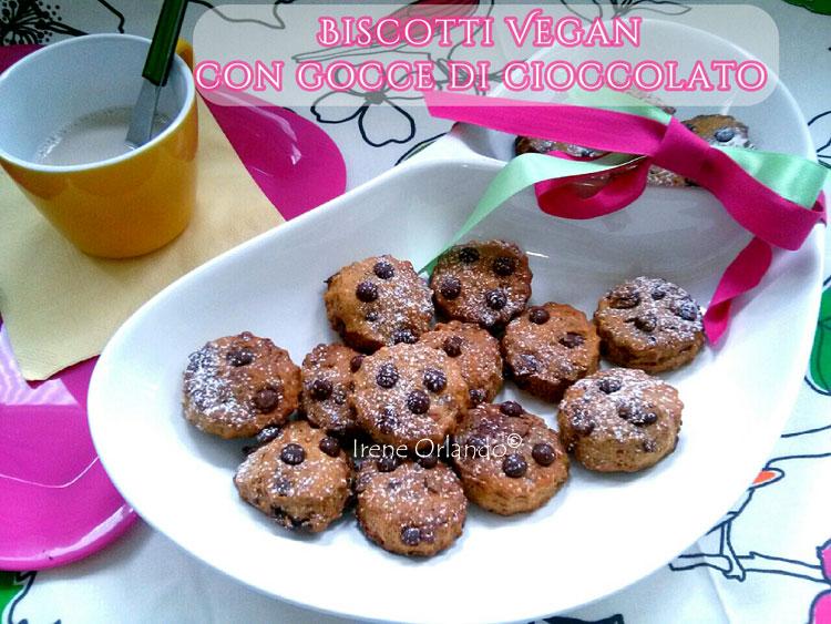 Ricetta Biscotti Vegan con Gocce di Cioccolato