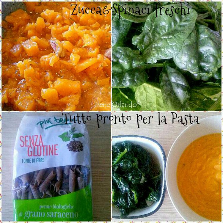 Ricetta della Pasta Grano Saraceno con Spinaci e Vellutata di Zucca - Ingredienti