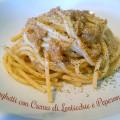 Ricetta degli Spaghetti con Crema di Lenticchie e Peperone Rosso - Foto in Evidenza del piatto