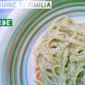 Linguine di Timilia con Avocado, Capperi di Pantelleria e Semi di Zucca