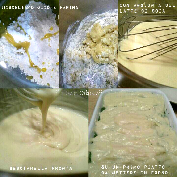 Ricetta della Besciamella Vegetale Cotta sul fuoco - Senza Latte e senza Burro - Ingredienti necessari e procedimento