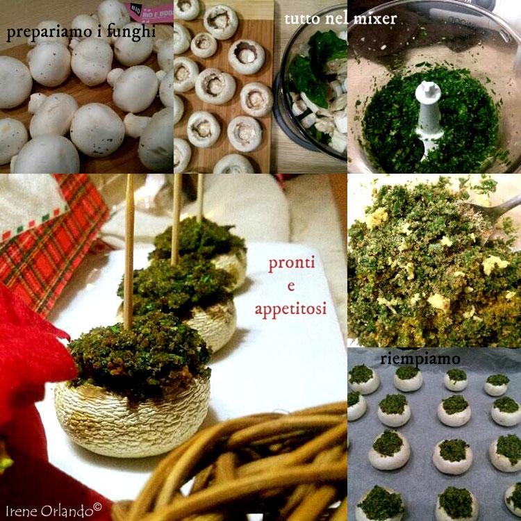 Ricetta di Funghi Champignon ripieni con spinaci e zenzero - ingredienti e procedimento