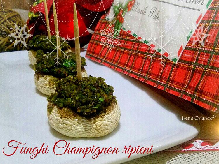 Ricetta dei Funghi Champignon ripieni con spinaci e zenzero
