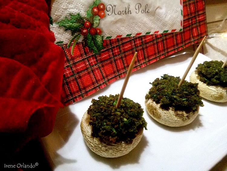 Ricetta di Funghi Champignon ripieni con spinaci e zenzero - Piatto completo