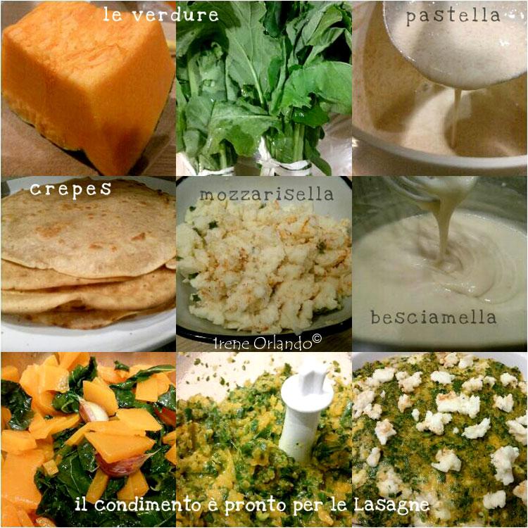 Ricetta delle Lasagne di Crepes di Farina di Farro con Zucca Rossa e Foglie di Cavolo - Ingredienti utilizzati e procedimento da seguire