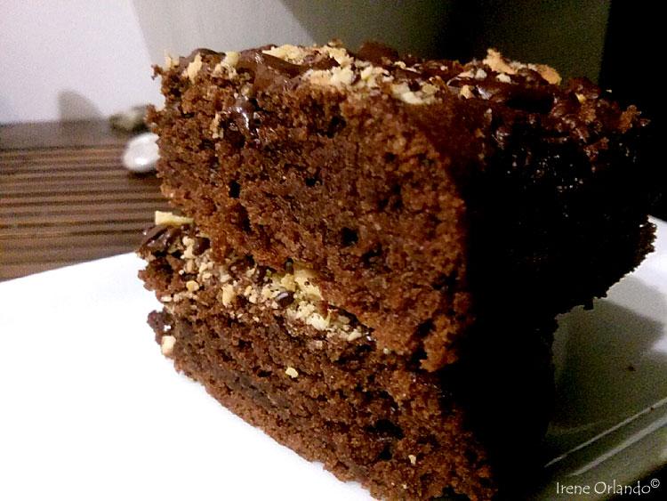 Ricetta del Brownies Vegan - Senza burro e uova - fette intere