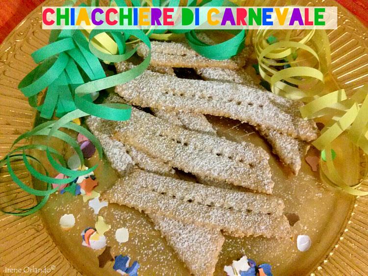 Ricetta delle Dolci Chiacchiere di Carnevale - ricetta Vegan senza Burro e Uova