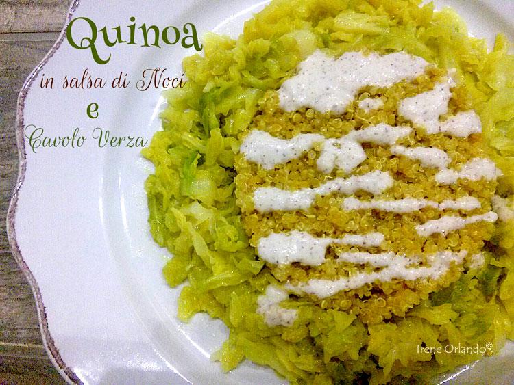Ricetta della Quinoa con Cavolo Verza e Salsa di Noci