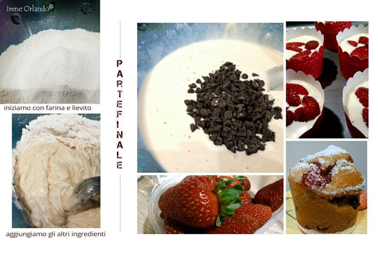 Ricetta dei Muffin Vegan con Fragole e Cioccolato - Ingredienti e Procedimento