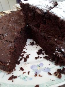 Ricetta di una Torta al cacao Vegan da impastare direttamente nella teglia di cottura