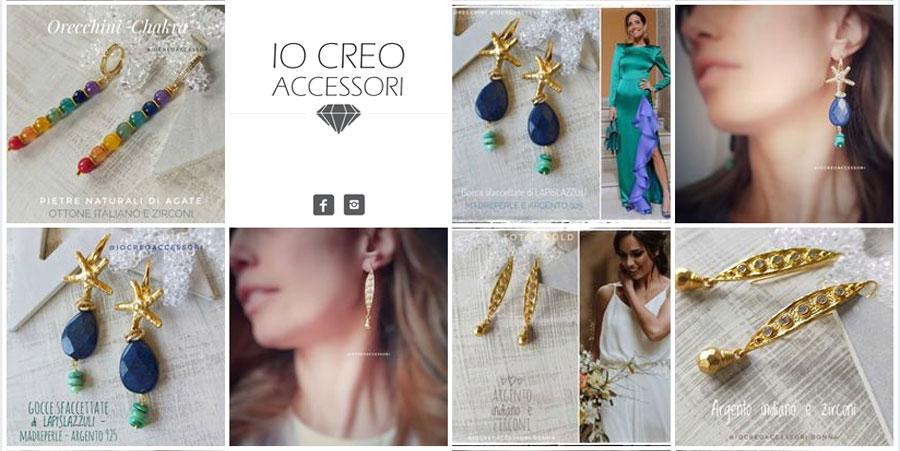 banner di accessori bijoux donna fatti a mano